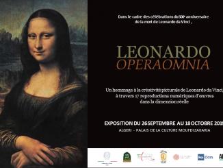 Digital reproductions of Leonardo da Vinci's paintings exhibition Algiers 2019